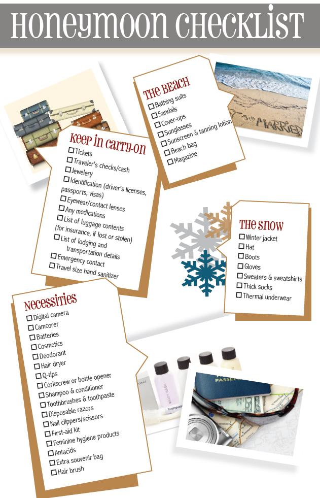 honeymoon checklist download pdf